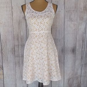 I Heart Ronson Ivory Floral Lace Dress Sz 2